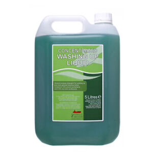 2 x 5 Litre Thick Washing Up Liquid 20% Concentrated Detergent Kitchen Dishes