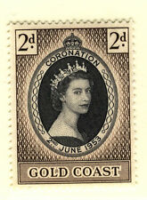 Elizabeth II (1952-Now) Royalty Gold Coast Stamps (Pre-1957)