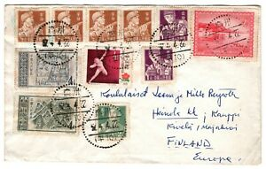 China PRC cover from Guangzhou to Finland in 1957