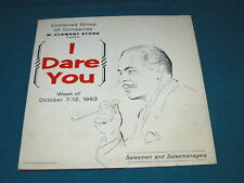 "W. CLEMENT STONE ""I Dare You"" SALESMEN Seminar LP Record @ 1963 Vintage"