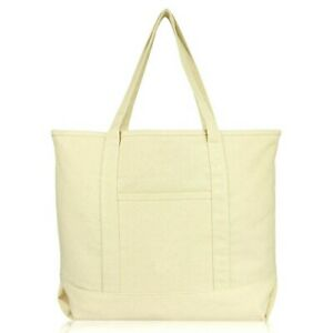 """22"""" Extra Large Open Top Shopping Tote Grocery Bag with Outer Pocket"""