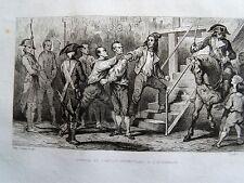 Bi29 Gravure 1834 révolution française Danton et Desmoulins à l'échaffaud
