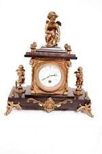 Prunk! Kaminuhr Tischuhr Uhr Amor Bronzefiguren Schwarzer Marmor Franz. Stil