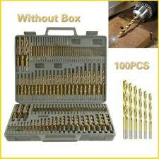 100PCS Titanium Drill Bit 1/1.5/2/2.5/3mm Twist Coated HSS Wood Hex Shank Tools
