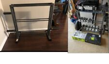 Marcy Combo Weights Storage Rack for Dumbbells, Kettlebells, and Weight Plates