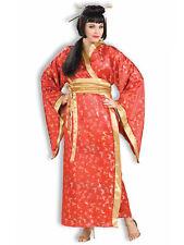 Madame Butterfly Geisha Japanese Japan Asian Red Kimono Womens Costume Plus