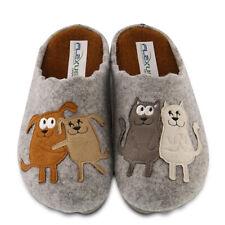 Flexus By Spring Step PetLove Indoor/outdoor wool slipper Dog+Cats Gray Eur 40