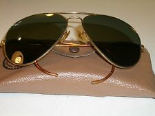 96fc44733c 62mm VINTAGE B L RAY BAN COIL WRAP-AROUNDs G15 GOLD PLATED AVIATOR  SUNGLASSES