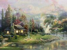 CABIN LED Light Up Lighted Canvas Painting Picture Wall Art Home Office Decor