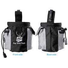 Dog Treat Bag Pet Training Pouch Bag Built-in Poop Bag Dispenser Hands-Free Walk