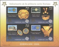 Peru 2005 Europa Stamps 50th/Gold Jewellery/S-onS/Art/Craft 4v m/s (n34842b)