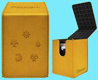 ULTRA PRO MTG MATTE GOLD ALCOVE MANA 5 SYMBOL FLIP DECK BOX Card Storage Case