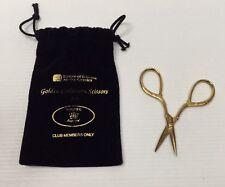 "Singer Golden Collectors Scissors 3 3/4"" Germany House Of Fabrics Club Members"