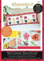 Kimberbell May Flowers Bench Pillow Embroidery CD (KD521)
