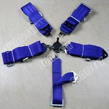 "Hi-q 3"" Inch 4 5 Point Quick Release Seat Belt Harness Blue"