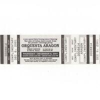 ORQUESTA ARAGON Concert Ticket Stub MINNEAPOLIS MN 12/6/01 FIRST AVENUE Rare