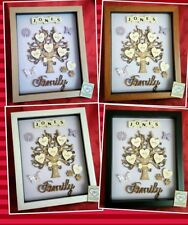 PERSONALISED FAMILY TREE PICTURE FRAME KEEPSAKE GIFT BOX WOODEN BIRTHDAY HEARTS
