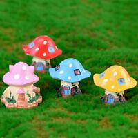 Mushroom house Miniatures For Fairy Garden Gnomes Moss Terrariums Decor KK