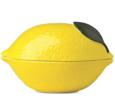 Kate Spade With a Twist Covered Bowl Yellow Lemon Shaped New In Box