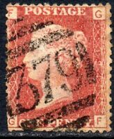 1876 Sg 43 1d rose-red 'GF' Plate 194 with 379 Charlton Duplex Cancel Good Used