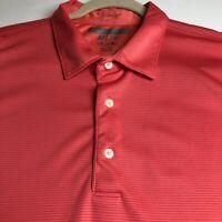 Greg Norman Golf Men's Short Sleeve Polo Shirt XXL 2XL Pink Multicolor Stripes