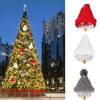 1pc Christmas Snowman Pendants Hanging Decoration Ball Transparent Woolen H F2U5