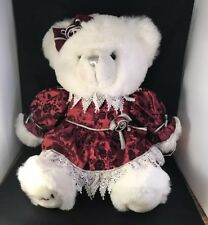 "KEEPSAKE MEMORIES BEAR 2001 Silver Red Dress 18"" with tags CHRISTMAS WALMART"