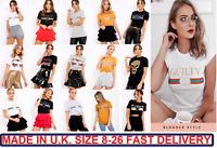Celeb Designer Inspired Guilty Liberty Queen Benjour Slogan Printed T Shirt Tops