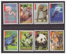 Surinam / Suriname 1999 Panda tiger tigre ape affe whale flamingo elephant MNH