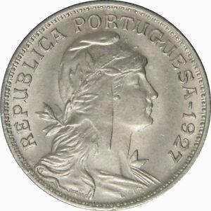 Ek // 50 centavos Portugal 1927 SUP