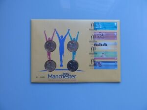 2002 Manchester Commonwealth Games - 4 x £2 Two Pound Coins Cover