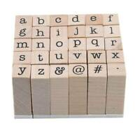 1 Set Wooden DIY Craft Seal Alphabet Number Letter Stamper Seal DD