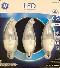 GE LED 60W DECORATIVE DIMMABLE 3 BULBS