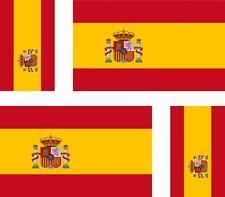 4 x Autocollant sticker voiture moto valise pc portable drapeau espagne espagnol