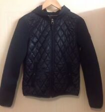 Marc O'Polo Navy Blue Marine Quilted Zip Jacket With Hood 8 36 S