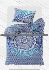 Doona Cover Indian Mandala Quilt Set Cotton With Pillow Case Duvet Comforter Art
