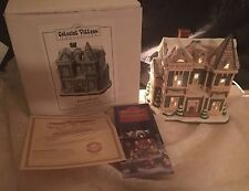 Lefton Colonial Village Christmas: Treviso House, 1996, box and deed,10392-96-00