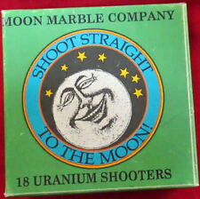 Box Moon Marble Company URANIUM SHOOTER MARBLES. Mint. 13 included.