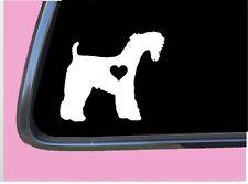 "Kerry Blue Terrier lil heart Tp 554 vinyl 6"" Decal Sticker dog breed"
