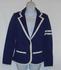 Arizona Jean Co Girls Fleece Lined Varsity Blazer Navy Xl/18 Nwt