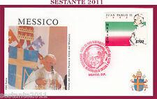 W295 VATICANO FDC ROMA VISITA PAPA GIOVANNI PAOLO II MESSICO 1990