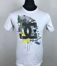 Vintage DC Shoes Mens T-Shirt Classic White Short Sleeved Jersey Size Small