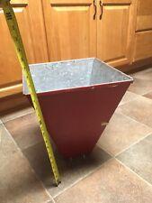 """Galvanized Steel Hopper - 14"""" H, 13"""" Top, 5"""" bottom, seed hopper, grain drill"""