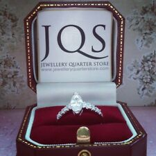 925 Silver Marquise Solitaire CZ 2mm Ring - Sizes J to Q available - Gift Boxed