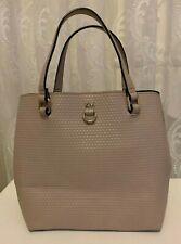 Karen Millen Nude Embossed Faux Leather Small Mini Bucket Hand Bag
