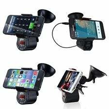 FM Transmitter Car Kit Handsfree Speaker Charger MP3 Player Phone Mount Holder