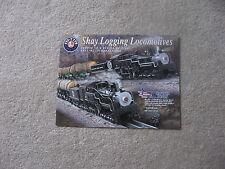 2002 LIONEL HO  TRAINS  SHAY LOGGING LOCO FLYER MINT
