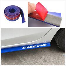New Blue 2.5M Car Front Bumper Lip Splitter Spoiler Chin Pad Protection Sticker