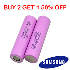2 SAMSUNG ORIGINALE 18650 batterie al litio 30q 3000mah 15a Li-Ion Battery VAPE UK