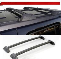 For 06-10 Hummer H3 H3T Black Roof Rack Cross Bar Set W/Lock Luggage Key